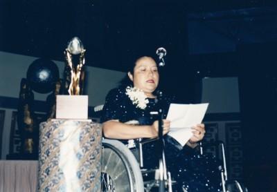 Ana Marías tal vid prisutdelningen i Hongkong